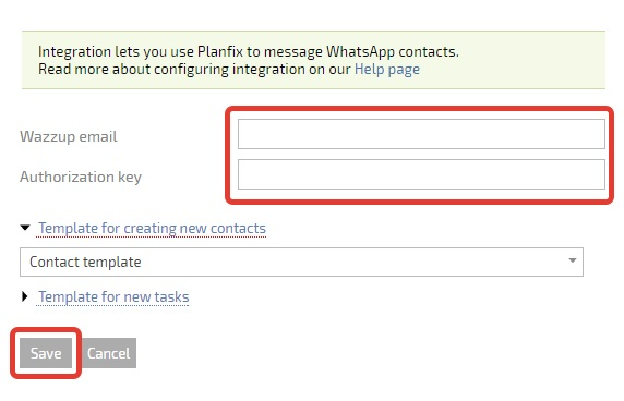 How to integrate PlanFix | WAZZUP Help